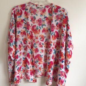 Forever 21 Plus Polyester Floral Kimono